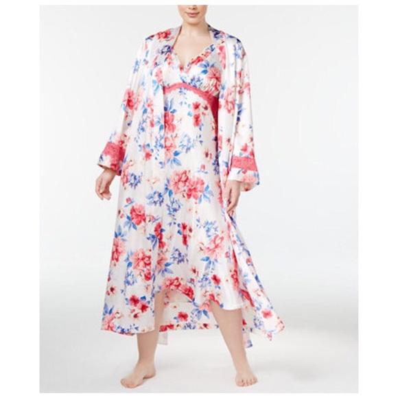 Thalia Sodi Intimates & Sleepwear   Intimates Peonies Gown Robe Set ...